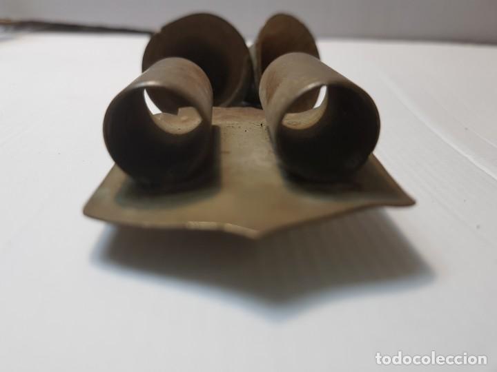 Antigüedades: Juego Campanas Llamadoras con canaleta-guia en bronce - Foto 3 - 213652946