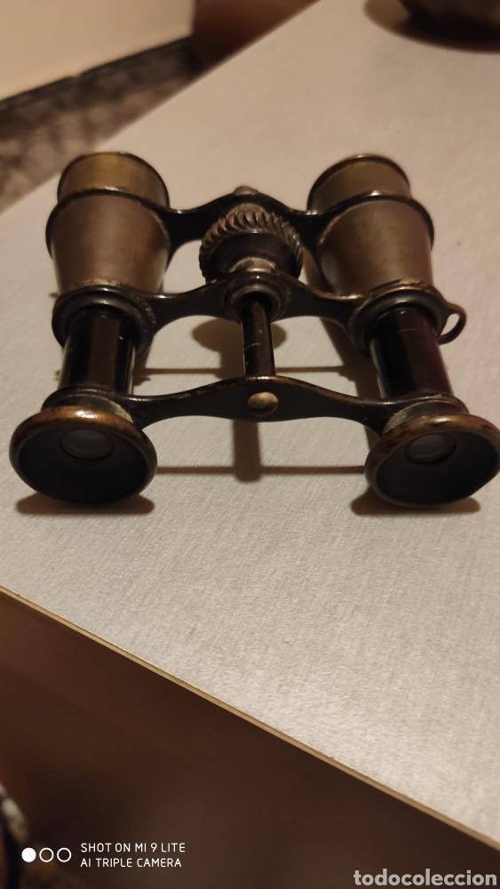 BINOCULAR ANTIGUO DE LATÓN OPERA (Antigüedades - Técnicas - Instrumentos Ópticos - Binoculares Antiguos)