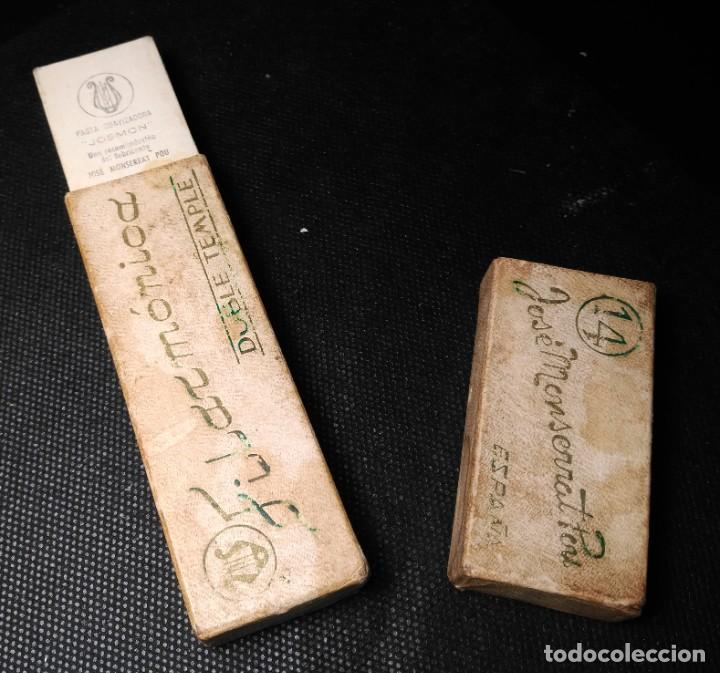 Antigüedades: Caja vacia original para navaja de afeitar FILARMONICA DOBLE TEMPLE 14. Straight razor, Box, Rasoio - Foto 2 - 213697260