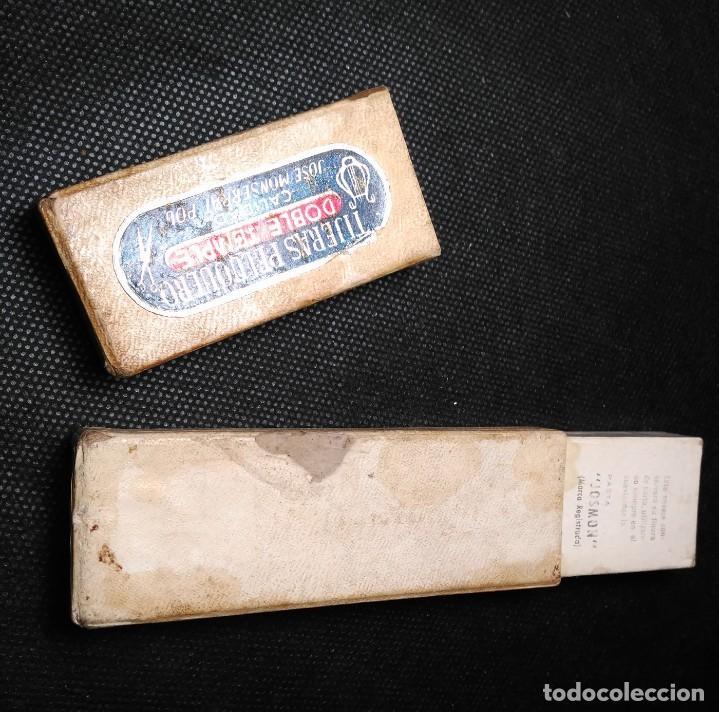 Antigüedades: Caja vacia original para navaja de afeitar FILARMONICA DOBLE TEMPLE 14. Straight razor, Box, Rasoio - Foto 3 - 213697260