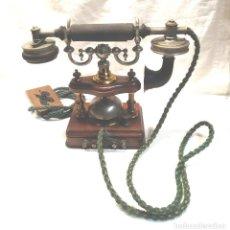 Telefoni: TELEFONO SOBREMESA ERICSSON ESQUELETO AÑO 1895, CON SISTEMA MORSE, BUEN ESTADO. MED. 24 CM ALT. Lote 213759986