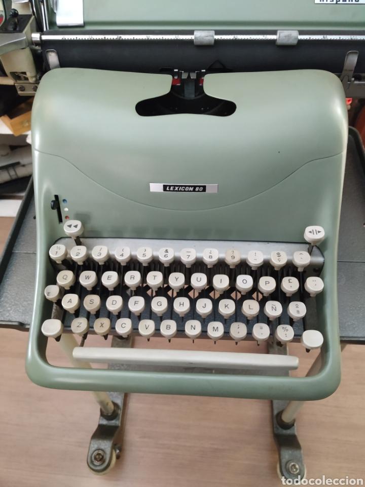 Antigüedades: Maquina de escribir Hispano olivetti lesicon 80 - Foto 2 - 213765073