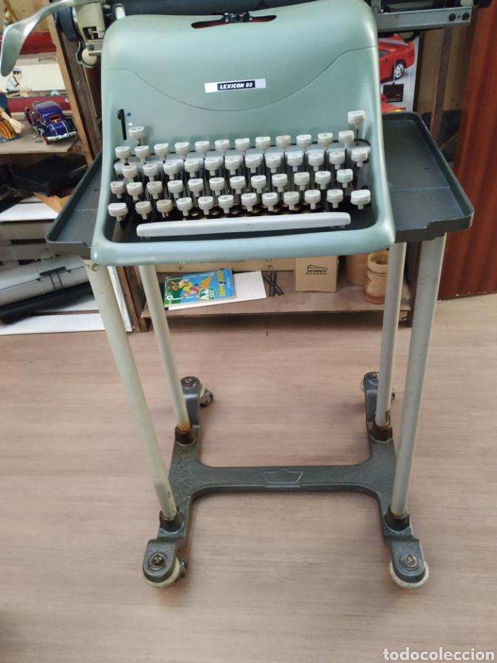 Antigüedades: Maquina de escribir Hispano olivetti lesicon 80 - Foto 4 - 213765073