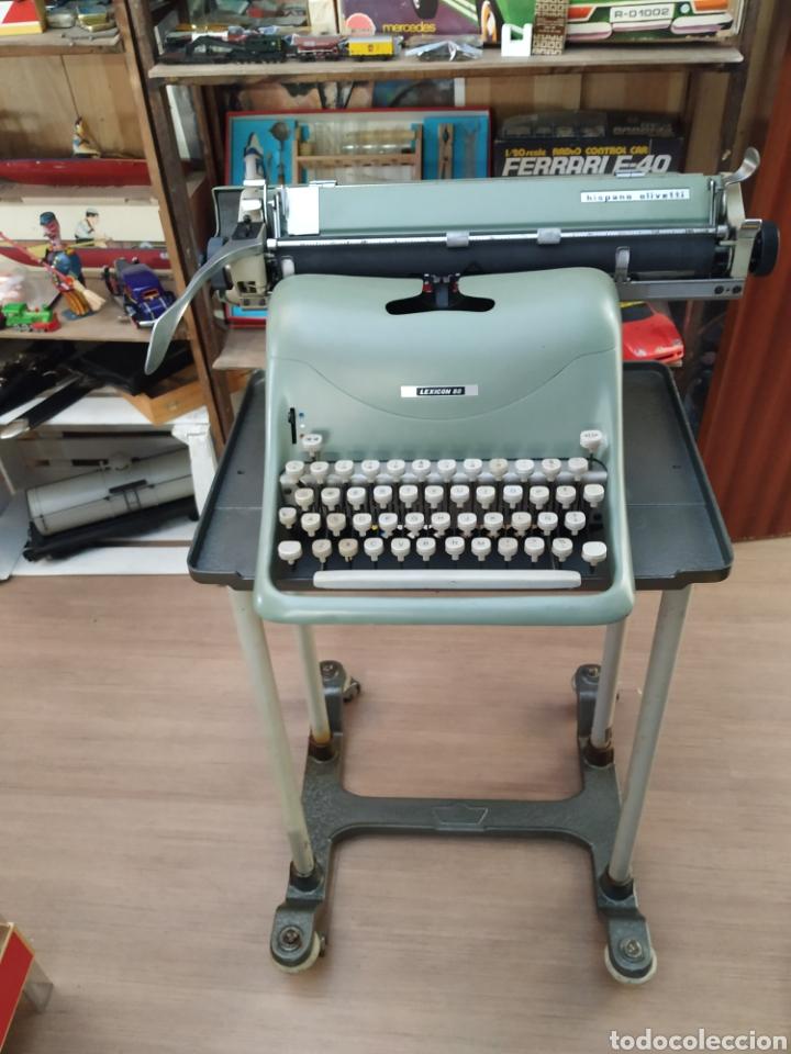 MAQUINA DE ESCRIBIR HISPANO OLIVETTI LESICON 80 (Antigüedades - Técnicas - Máquinas de Escribir Antiguas - Olivetti)