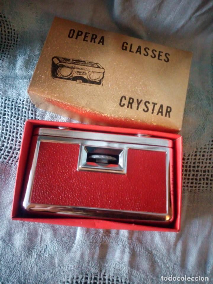 Antigüedades: Antiguos binoculares de opera,en su caja original. - Foto 3 - 213822841