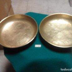 Antiquités: PAREJA DE PLATOS PARA BALANZA. Lote 213895585