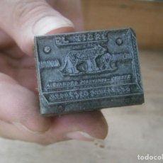 Antigüedades: ¡¡ PRECIOSO MOLDE DE IMPRENTA AÑOS 30-40¡¡LIMONADA EL TIGRE.. ALEJANDRO MARTINEZ. Lote 213984332