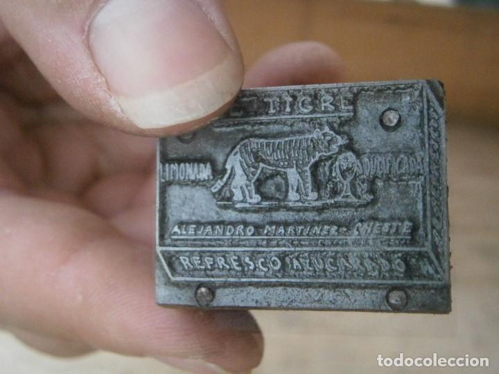 Antigüedades: ¡¡ PRECIOSO MOLDE DE IMPRENTA AÑOS 30-40¡¡LIMONADA EL TIGRE.. ALEJANDRO MARTINEZ - Foto 2 - 213984332