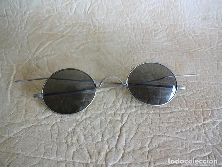 Antigüedades: antiguas gafas con patillas rectas - Foto 2 - 214116040