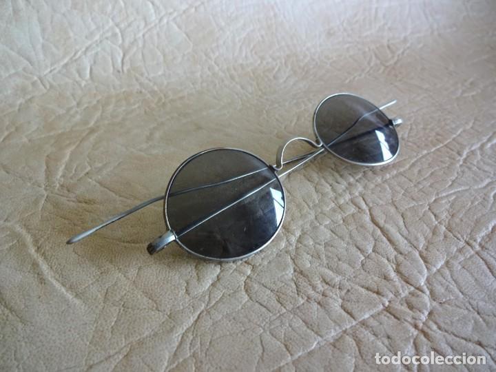ANTIGUAS GAFAS CON PATILLAS RECTAS (Antigüedades - Técnicas - Instrumentos Ópticos - Gafas Antiguas)