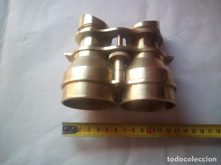 Antigüedades: prismaticos bronce o laton - Foto 6 - 214145020