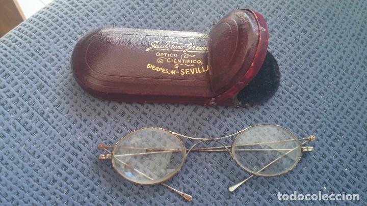 GAFAS QUEVEDO CON FUNDA RÍGIDA (Antigüedades - Técnicas - Instrumentos Ópticos - Gafas Antiguas)
