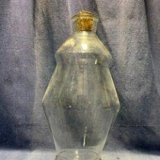 Antigüedades: DEPOSITO VIDRIO AGUA LICOR FARMACIA BAR MOSTRADOR DISPENSADOR GRIFO BRONCE S XIX FRANCIA 42X23CMS. Lote 214212505