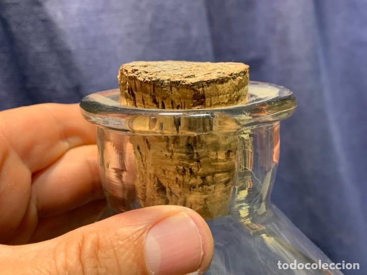 Antigüedades: deposito vidrio agua licor farmacia bar mostrador dispensador grifo bronce s xix francia 42x23cms - Foto 7 - 214212505