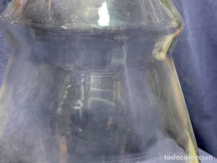 Antigüedades: deposito vidrio agua licor farmacia bar mostrador dispensador grifo bronce s xix francia 42x23cms - Foto 8 - 214212505