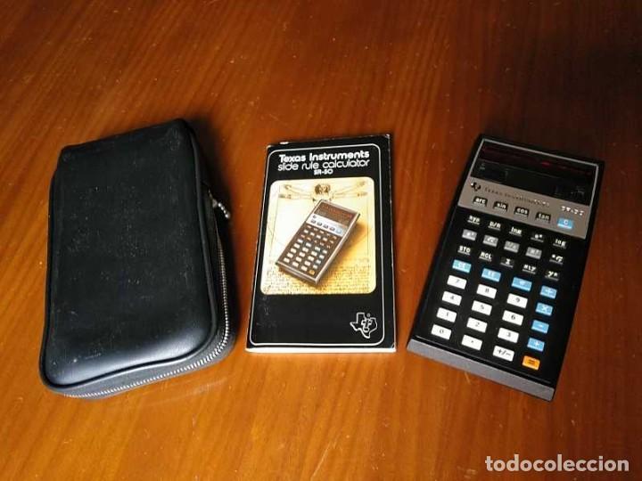 CALCULADORA TEXAS INSTRUMENTS SR-50 - 1975 SLIDE RULE CALCULATOR (Antigüedades - Técnicas - Aparatos de Cálculo - Calculadoras Antiguas)