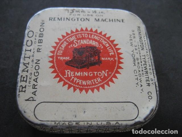 CAJA METAL CINTA MAQUINA ESCRIBIR REMINGTON (Antigüedades - Técnicas - Máquinas de Escribir Antiguas - Remington)