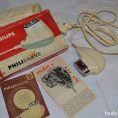 Antigüedades: ANTIGUA AFEITADORA ELÉCTRICA PHILISHAVE / PHILIPS - CAJA E INSTRUCCIONES ORIGINALES / VINTAGE ¡MIRA!. Lote 214325091