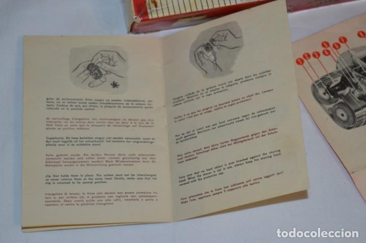 Antigüedades: ANTIGUA AFEITADORA ELÉCTRICA PHILISHAVE / PHILIPS - Caja e instrucciones originales / VINTAGE ¡MIRA! - Foto 11 - 214325091