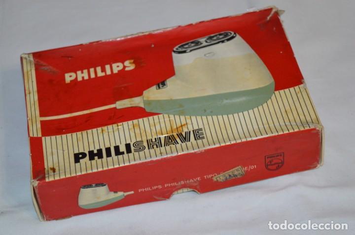 Antigüedades: ANTIGUA AFEITADORA ELÉCTRICA PHILISHAVE / PHILIPS - Caja e instrucciones originales / VINTAGE ¡MIRA! - Foto 13 - 214325091