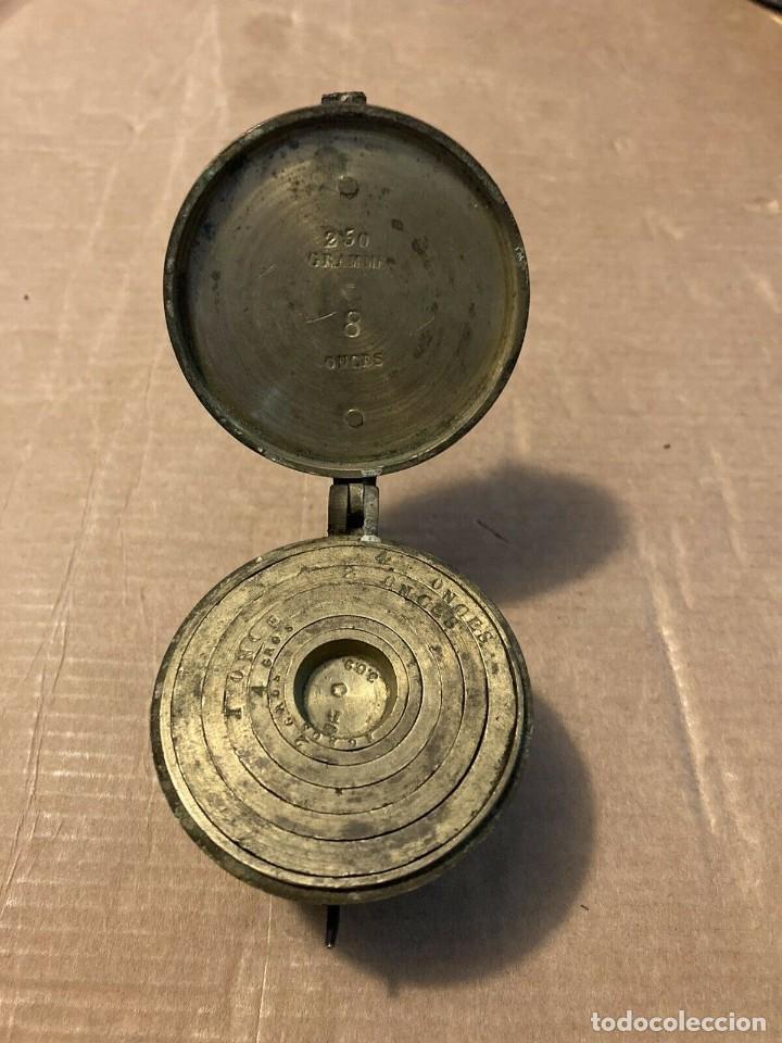 PONDERAL DE VASO ANIDADO 1834 (Antigüedades - Técnicas - Medidas de Peso - Ponderales Antiguos)