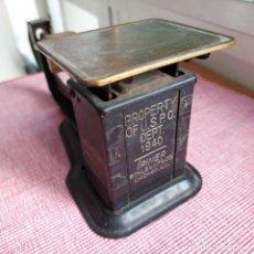 Antigüedades: ESPECTACULAR BALANZA/PESACARTAS USA DE METAL DE LA TRINER SCALE&MGF CO--CHICAGO--AÑOS 1940. Lote 214424518