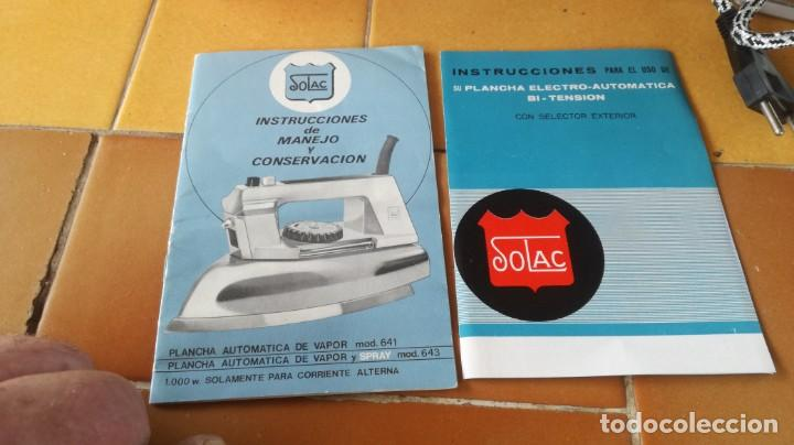 Antigüedades: PLANCHA SOLAC 641 - Foto 8 - 214455251