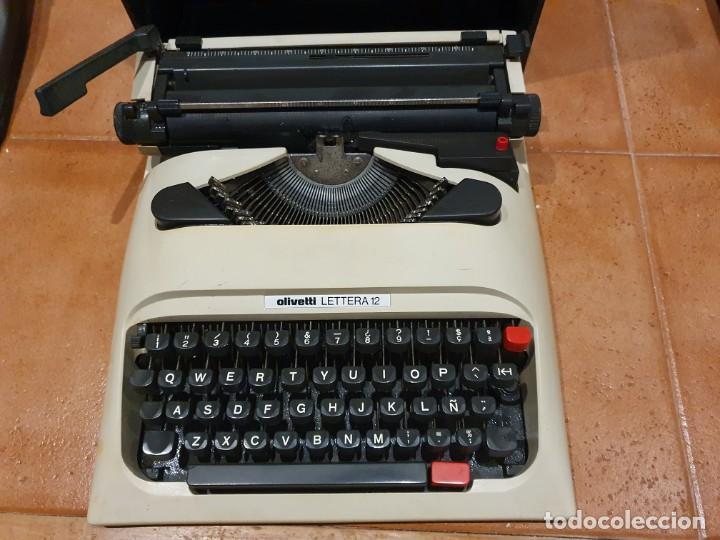 MÁQUINA DE ESCRIBIR OLIVETTI STUDIO 12 PREMIO DE DISEÑO FUNCIONANDO (Antigüedades - Técnicas - Máquinas de Escribir Antiguas - Olivetti)