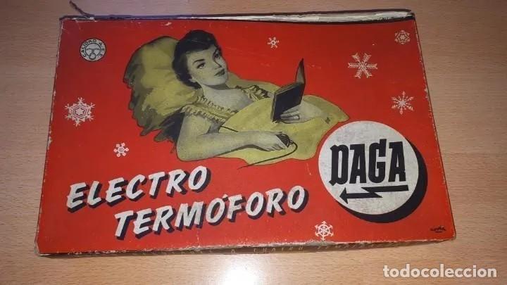 MUY ANTIGUA ALMOHADILLA ELÉCTRICA DE LA CASA DAGA, PRIMER MODELO (1925-1940). TOTALMENTE NUEVA (Antigüedades - Técnicas - Varios)