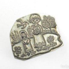 Antigüedades: PLACA DE IMPRENTA ANTIGUA ILUSTRACIÓN RELIGIOSA. Lote 214477438