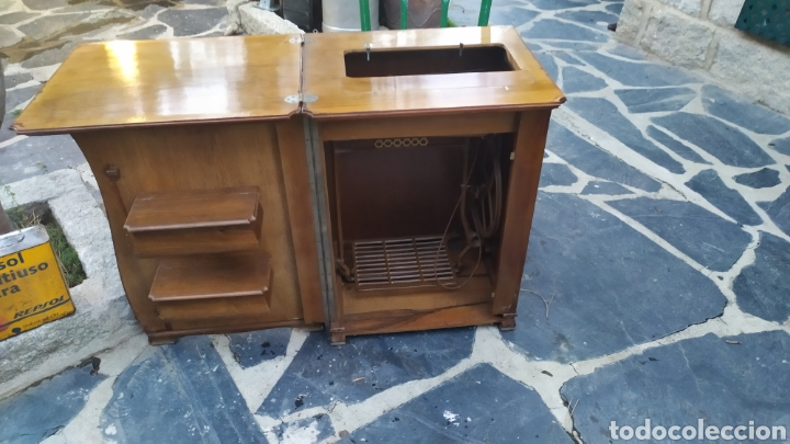 Antigüedades: Maquina de coser con mueble250 - Foto 2 - 214634178