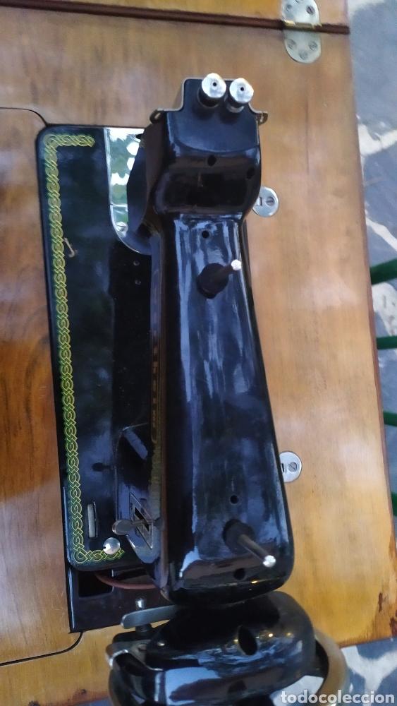 Antigüedades: Maquina de coser con mueble250 - Foto 5 - 214634178