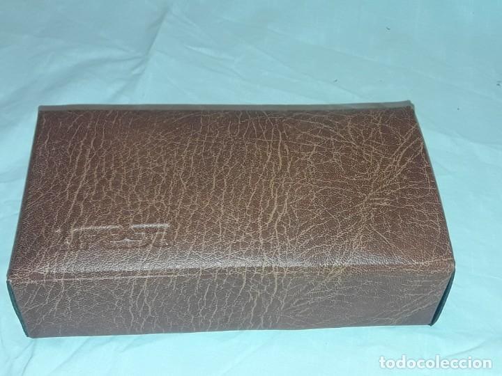 Antigüedades: Bella plancha de viaje Ufesa años 70 con certificado y funda - Foto 2 - 214641428