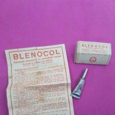Antigüedades: BLENOCOL , PROFILÁCTICO ANTIGUO EN CREMA ,MASNOU ,BARCELONA , LNE ,AÑOS 1940. Lote 214692638