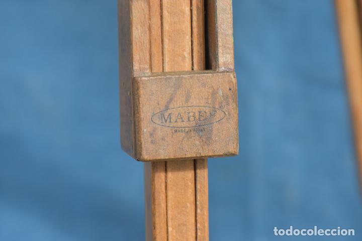 Antigüedades: TRIPODE DE PINTOR CON MARCA COMPLETO MADERA DE HAYA MIDE CERRADO 83 CM - Foto 6 - 214694003