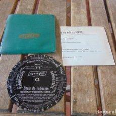 Antigüedades: DISCO EN METAL CON FUNDA Y INTRUCCIONES TENSION DE RADIOGRAFIA GRIFE CONGRESO 1964 SEVILLA. Lote 214716866