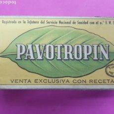 Antiquités: PAVOTROPIN , LABORATORIO CELTA ,VALENCIA , AÑOS 1940. Lote 214727907