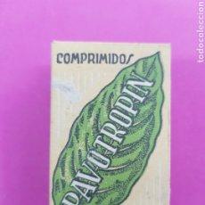Antiquités: PANTROPIN COMPRIMIDOS , ANTIGUO MEDICAMENTO, LABORATORIOS CELTA , VALENCIA. Lote 214728385