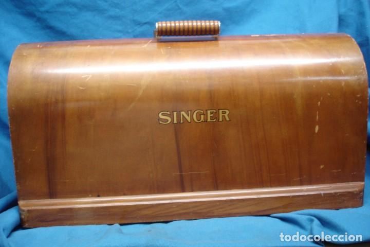 ANTIGUO TAPE DE MADERA PARA MÁQUINA DE COSER SINGER (Antigüedades - Técnicas - Máquinas de Coser Antiguas - Sigma)