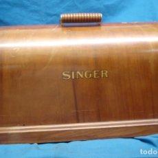 Antigüedades: ANTIGUO TAPE DE MADERA PARA MÁQUINA DE COSER SINGER. Lote 214763218