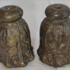 Antigüedades: ANTIGUOS EMBELLECEDORES DE BRONCE MACIZO PARA PATAS - REFUERZO PARA PATAS DE MUEBLE ANTIGUO. Lote 214810388