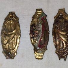 Antigüedades: LOTE DE ANTIGUOS EMBELLECEDORES DE BRONCE PARA MUEBLES - MUY FINITOS - ARMARIOS, CAJONES, PUERTAS.... Lote 214846457