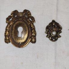 Antigüedades: EMBELLECEDORES DE BRONCE PARA RESTAURAR MUEBLE ANTIGUO - OJO DE CERRADURA. Lote 214850895