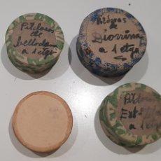 Antiquités: LOTE 4 CAJAS DE PÍLDORAS, MEDICAMENTOS. Lote 214862527