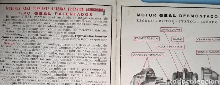 Antigüedades: MOTORES TRIFÁSICOS TIPO GEAL - AEG - IBÉRICA DE ELECTRICIDAD - Foto 2 - 214865170