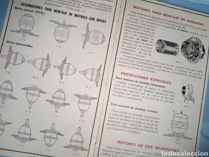 Antigüedades: MOTORES TRIFÁSICOS TIPO GEAL - AEG - IBÉRICA DE ELECTRICIDAD - Foto 3 - 214865170