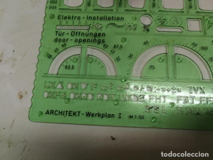 Antigüedades: 2 PLANTILLAS PARA ARQUITECTOS 802 1:50 FABER-CASTELL Y STANDARDGRAPH 6878 DE CERAMICAS GALA AÑOS 70 - Foto 4 - 214872002