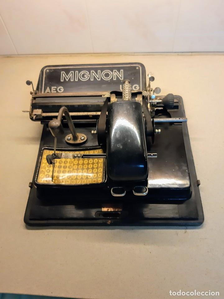 MAQUINA ESCRIBIR MIGNON 4 CON CAJA (Antigüedades - Técnicas - Máquinas de Escribir Antiguas - Mignon)