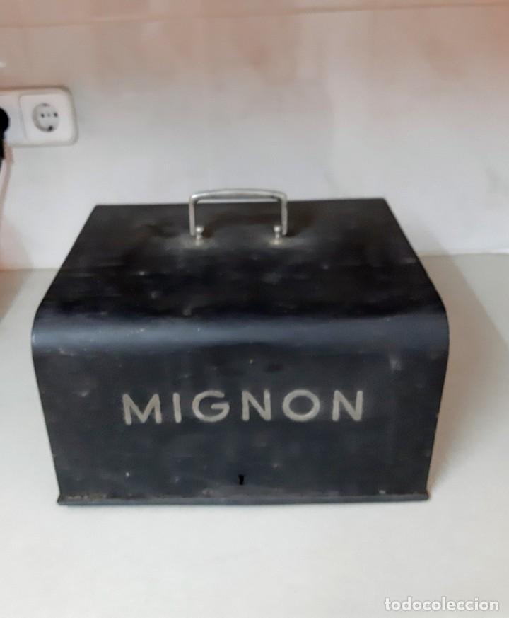 Antigüedades: MAQUINA ESCRIBIR MIGNON 4 CON CAJA - Foto 4 - 214875917