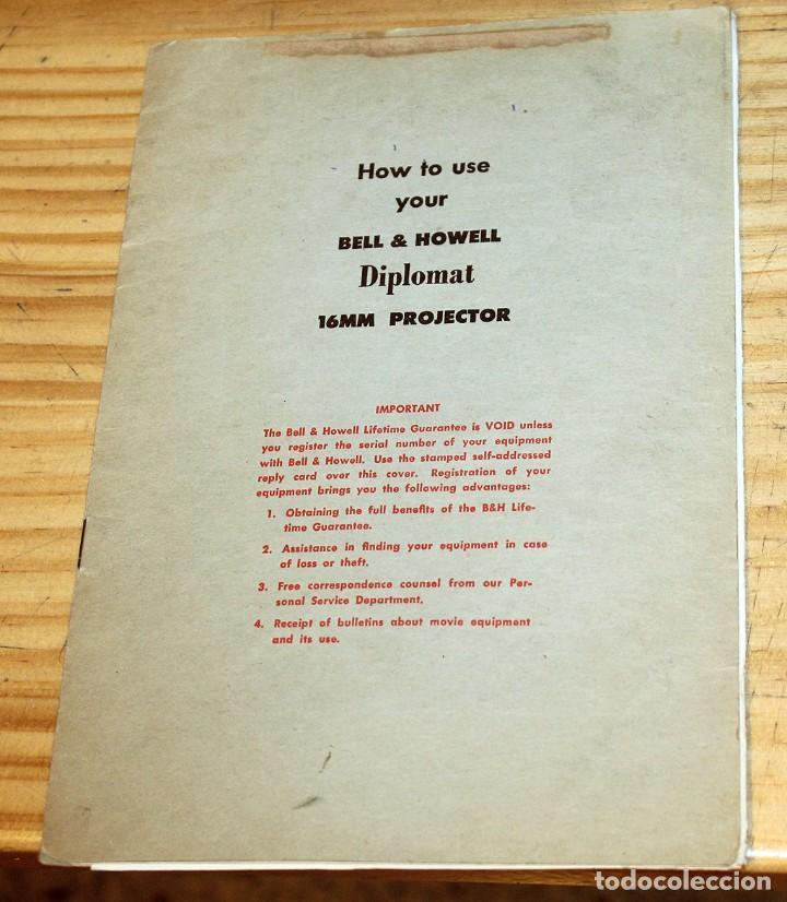 Antigüedades: ANTIGUO PROYECTOR BELL & HOWELL DIPLOMAT - 16mm - EN SU CAJA ORIGINAL - MUY BUEN ESTADO - Foto 9 - 214882676